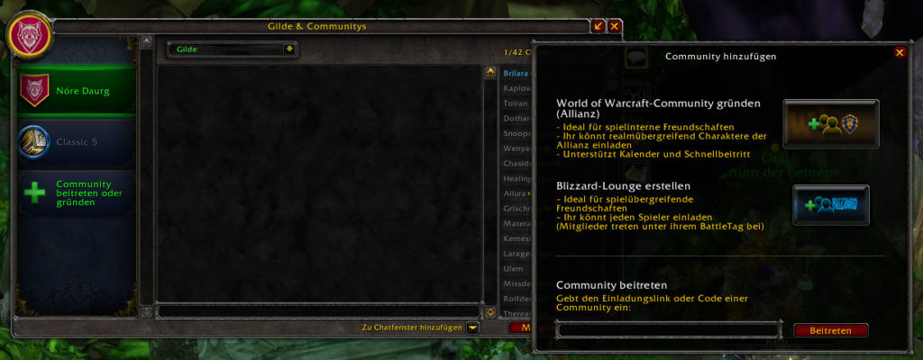 World of Warcraft Pre-Patch, Communitys, Voice-Chat