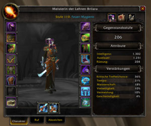 World of Warcraft Pre-Patch, Gegenstandsstufe (Itemlevel)