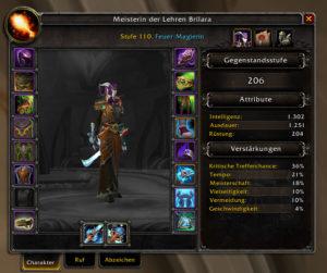 World of Warcraft Pre-Patch, Gegenstandsstufe (Itemlevel)